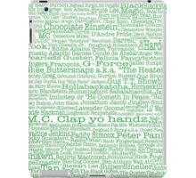 Psych tv show poster, nicknames, Burton Guster iPad Case/Skin