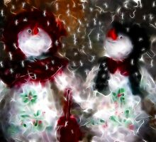 Mr and Mrs Frosty 2009/Merry Christmas  by bev langby