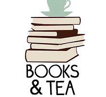 Books and tea des by Fandomsdepp