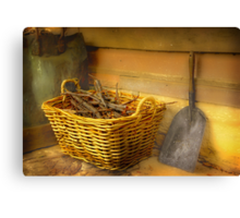 The Wood Basket . . . Canvas Print