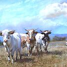 &#x27;Kefford&#x27;s Cattle I&#x27; by Lynda Robinson
