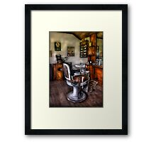 The Barber Chair Framed Print