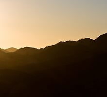 Sunset over the range by Larrikin  Photography