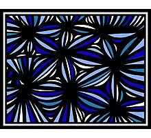 Simonin Abstract Expression Blue White Photographic Print