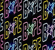 neon bape by g66by