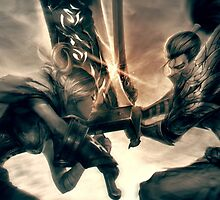 Riven against Yasuo -League of Legends by MindxCrush