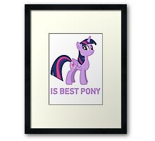Twilight Is Best Pony Framed Print