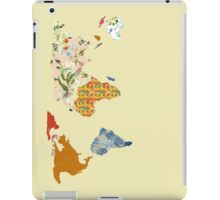 Floral Patchwork World Map iPad Case/Skin