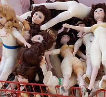 Basket of dolls by dcborn