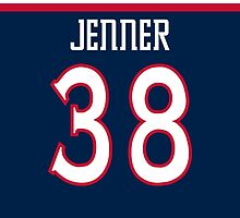 Columbus Blue Jackets Boone Jenner Jersey Back Phone Case by Russ Jericho