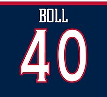 Columbus Blue Jackets Jared Boll Jersey Back Phone Case by Russ Jericho