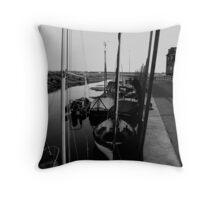 Blakeney Harbour in B&W Throw Pillow