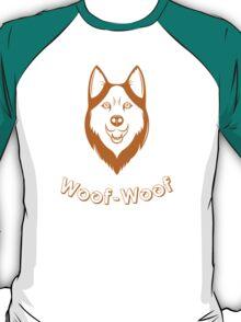 Print of fun Husky T-Shirt