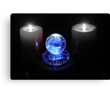 Crystal Ball in Blue Canvas Print