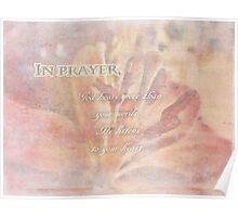 In prayer-inspirational Poster