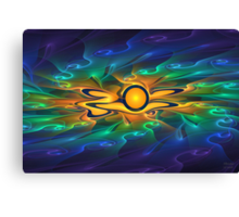 'Light Flame Abstract 163' Canvas Print