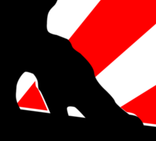 snowboard : red rays Sticker