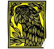 Bochek Parrot Yellow Black Poster