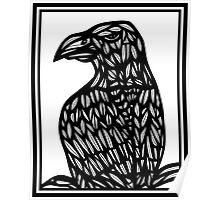 Faivre Eagle Hawk Black and White Poster