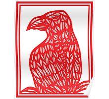 Berch Eagle Hawk Red White Poster