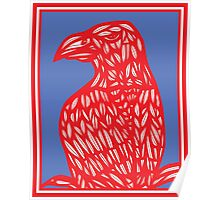 Sneathen Eagle Hawk Red Blue Poster