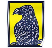 Mustin Eagle Hawk Yellow Blue Poster