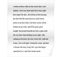 Story Of My Life Lyrics Poster