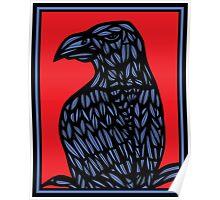 Lotts Eagle Hawk Red Blue Poster
