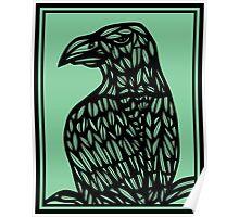 Musulin Eagle Hawk Green Black Poster
