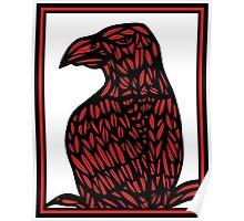 Kolb Eagle Hawk Red White Black Poster