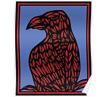 Niverson Eagle Hawk Red Blue Poster