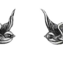 Harry Styles Swallow Tattoos by sarahazhar