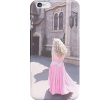 Aurora walking by her castle iPhone Case/Skin