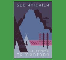 Travel Poster: Montana Night Kids Clothes