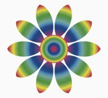 Rainbow Flower Design T-Shirt
