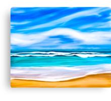 Dreams Of A Tropical Beach On The Caribbean Sea Canvas Print