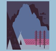 Travel Poster: Montana Night (Close-up) Kids Clothes