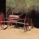 Red Wagon by Gary L   Suddath