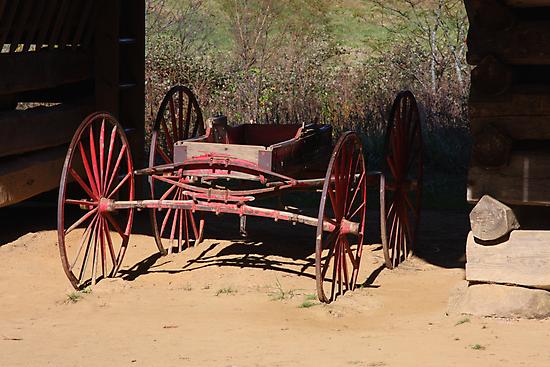 Red Wagon by Gary L   Suddath