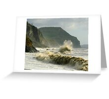Winter morning on Charmouth Beach  Greeting Card