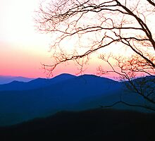 SMOKY MOUNTAIN SUNSET by Chuck Wickham