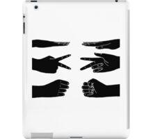 Scissors, paper, rock iPad Case/Skin