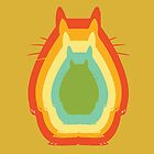 Totoro retro colors 2 by kennypepermans