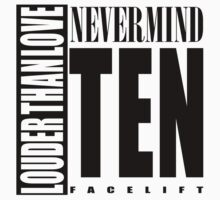 Nevermind Ten Facelift Louder than the Sound Grunge albums White version Kids Clothes