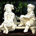 So Shy!! - Garden statue by EdsMum