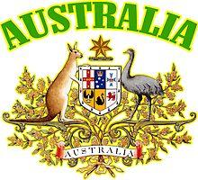 Australia Coat of Arms by ukedward