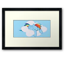 Rainbow Dash Sleeping Framed Print