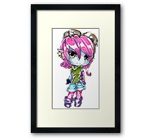 Chibi Riot Girl Tristana Framed Print
