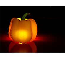 Glowing Yellow Pepper Photographic Print