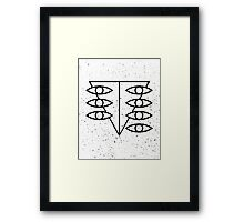 Seele Eyes (Black) Framed Print